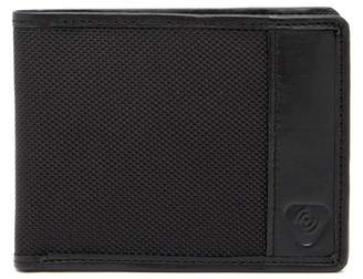 Lewis N. Clark RFID Blocking Ballistic Nylon & Leather Trimmed Bifold Wallet
