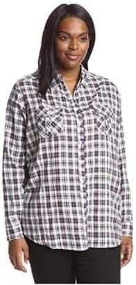 James & Erin Women's Plaid Shirt
