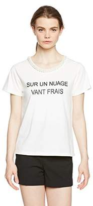 Image (イマージュネット) - (イマージュ) IMAGE(イマージュ) ビジュー付きプリントTシャツ RW-2690 63 オフホワイト S