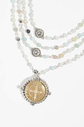 Virgin Saints & Angels San Benito Opal Medallion Necklace