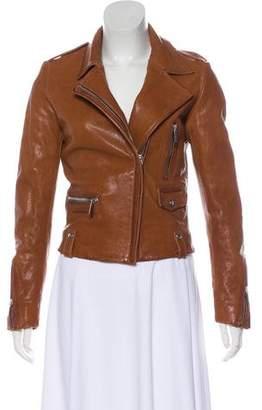 Barbara Bui Coated Leather Jacket