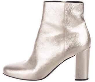 1227e153ac1 Saint Laurent Metallic Babies Ankle Booties