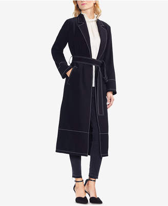 Vince Camuto Open-Front Trench Coat
