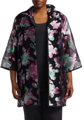 Caroline Rose Plus Passion Flower Silk Topper