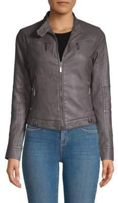 Joujou Faux Leather Biker Jacket