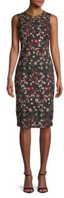Calvin Klein Floral Embroidered Sheath Dress