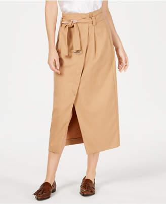 Marella Isolana Wrap-Front Knee-Length Skirt