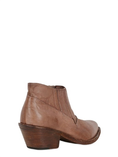 Nylo 50mm Vintage Leather Boots