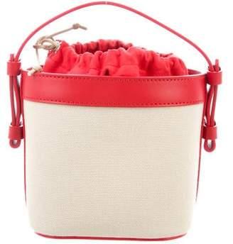 Nico Giani Leather-Trimmed Mini Bucket Bag