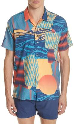 DOUBLE RAINBOUU Space Cowboy Print Camp Shirt