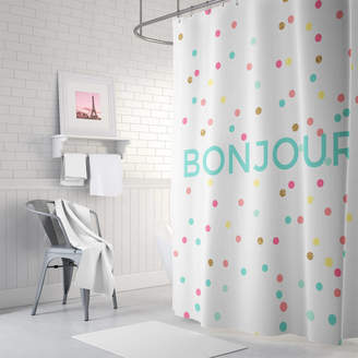At Notonthehighstreet Ruby And B Bonjour Shower Curtain