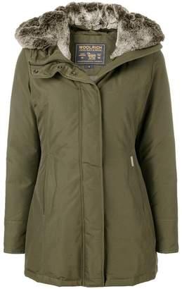 Woolrich faux fur lined padded coat
