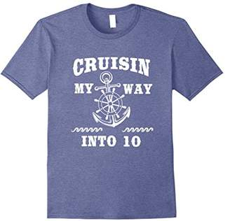 Funny 10th Birthday T-Shirt Cruisin my way into 10 Bday Gift
