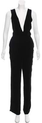3x1 Sleeveless Velvet Jumpsuit