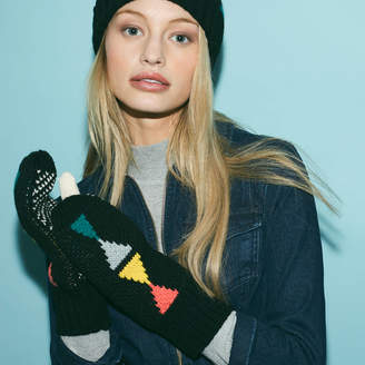 Lowie Triangle Mittens Black