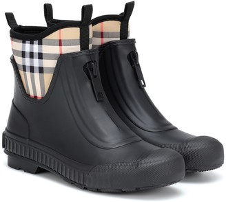 Burberry Checked rubber boots