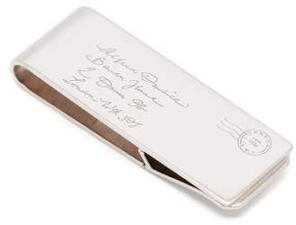 Dunhill Envelope Engraved Money Clip - Mens - Silver