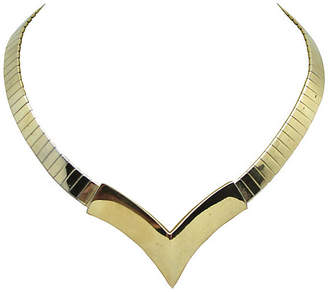 One Kings Lane Vintage Napier Chevron Deep-V Necklace
