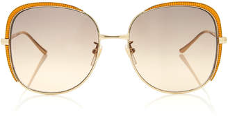 Gucci Guillochet Squared Sunglasses