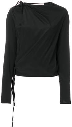 A.F.Vandevorst draped tie detail blouse