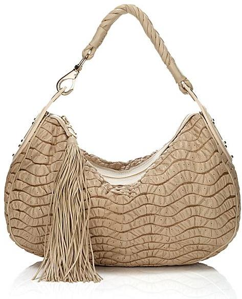 Versace Small Puckered Leather Hobo