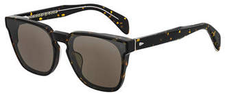 Rag & Bone Men's Square Dagger-Hinge Acetate Sunglasses