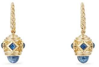David Yurman Renaissance Drop Earrings with Light Blue Sapphire in 18K Gold