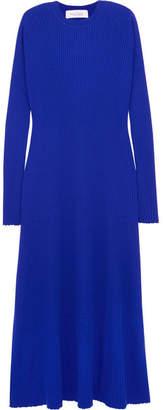 Marques Almeida Marques' Almeida - Ribbed Merino Wool Maxi Dress - Bright blue