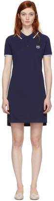 Kenzo Navy Tiger Crest Polo Dress