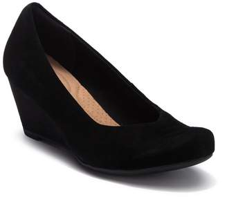 Clarks Flores Tulip Wedge Pump - Wide Width Available