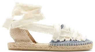 Castaner Jean Cotton Canvas Espadrilles - Womens - Blue