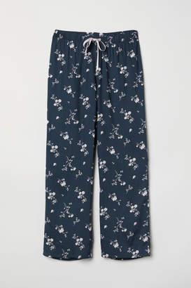 H&M Patterned Pajama Pants - Blue