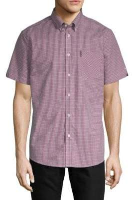 Ben Sherman Micro Check Oxford Shirt