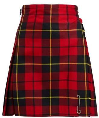 Le Kilt - Wallace 48cm Tartan Wool Kilt - Womens - Red Multi