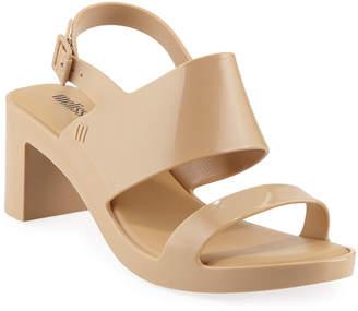 Melissa Shoes Classy PVC Block-Heel Sandals
