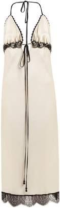 JOHANNA ORTIZ Toya lace-trimmed silk slip dress