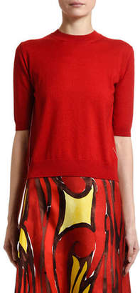Marni Short-Sleeve Wool-Silk Sweater
