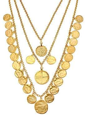 Kenneth Jay Lane Women's Triple-Row Coin Charm Necklace