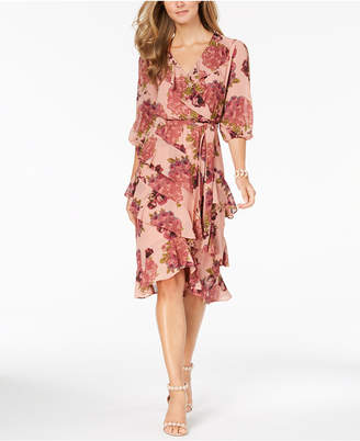 Betsey Johnson Ruffled Floral-Print Dress, Created for Macy's