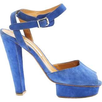 Carven Blue Suede Heels