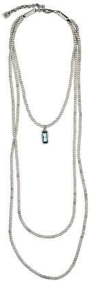 Uno de 50 Adrift Swarovski Crystal Pendant Multi-Layer Beaded Necklace