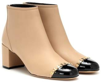 Salvatore Ferragamo Vara Chain leather ankle boots