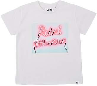 "Molo Kids Kids' Raymont ""Rebel With A Cause"" Cotton T-Shirt"