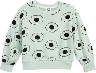 Stem Print Tuck Graphic Sweatshirt