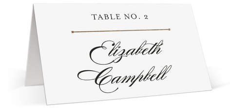 Dapper Amper Foil-Pressed Place Cards
