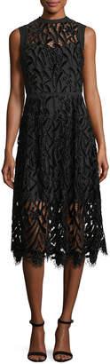 Shoshanna Glengarry Sleeveless Lace illusion Cocktail Dress