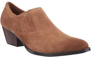 Marc Fisher Leather Slip-On Western Booties -Loori