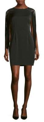 Aidan Mattox Abstract Embellished Dress