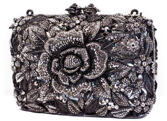 Shay Accessories Crystal Flower Clutch