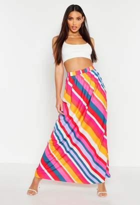 boohoo Bold Stripe Floor Sweeping Maxi Skirt